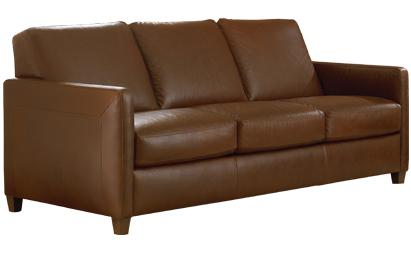 Natuzzi B670 Queen Leather Sleeper in Scottsdale Medium Brown