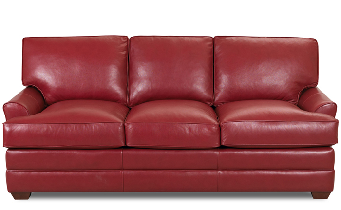 Gold Coast Queen Leather Sleeper in Durango Strawberry Leather