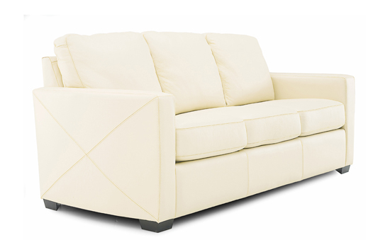 Carlten Full Leather Sleeper Side-View by Palliser