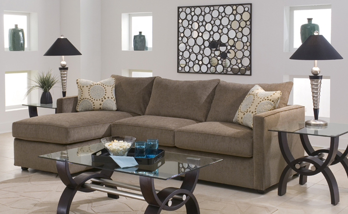 Astoria Chaise Sectional Sleeper Guest Room