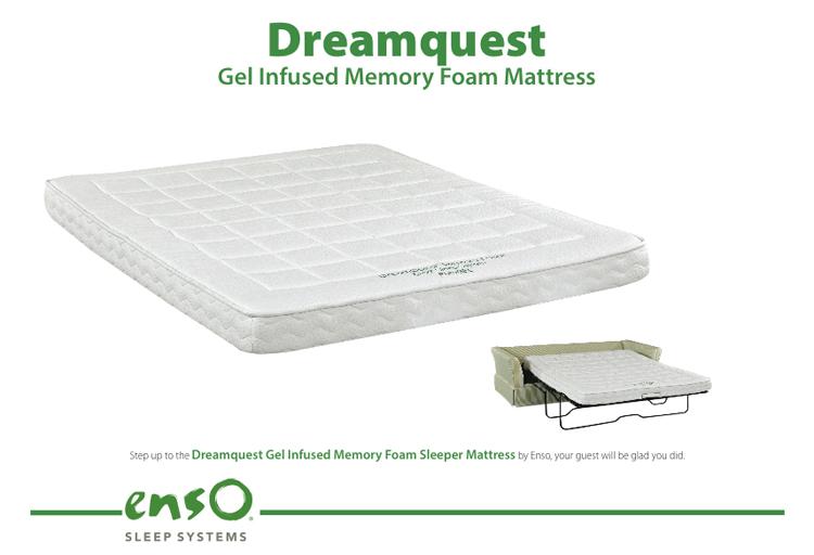 Gel-Infused Memory Foam Sleeper Mattress by Enso