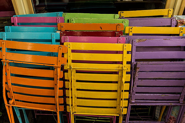 Colorful Stackable Chairs Increase Pizzazz and Space Use