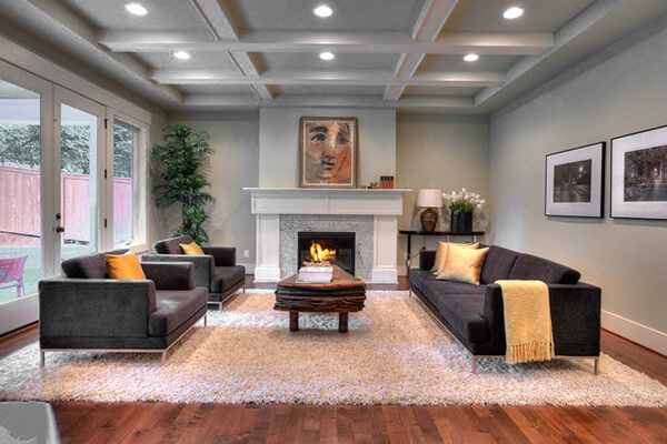 Rosichelli Design Living Room Home Staging