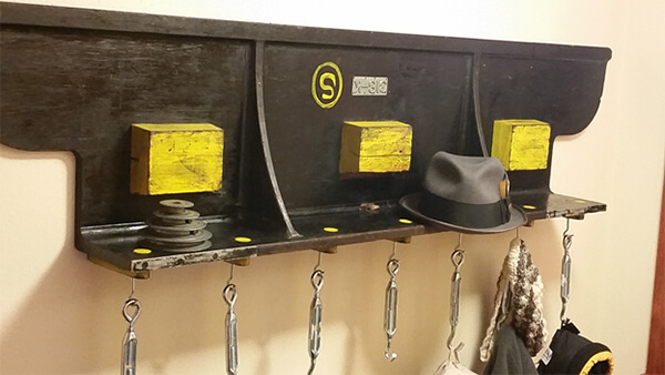 Foundry Pattern Hat Rack