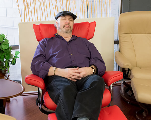 Mike Relaxing on Stressless Chair