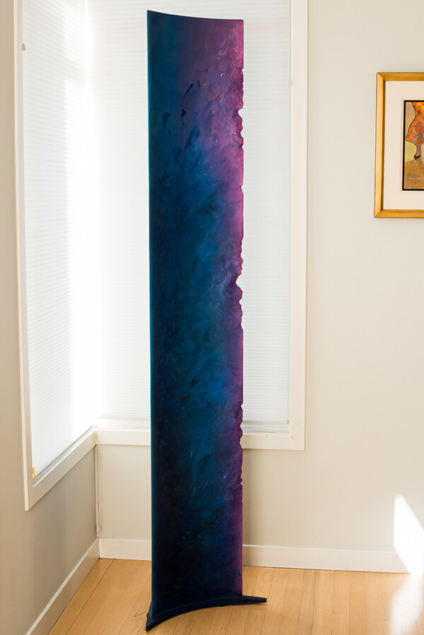 Curating and Displaying Art: Tall Purple Sculpture