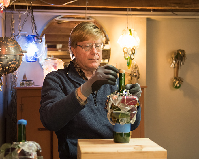 Russ Morgan Making a Glass Light Fixture