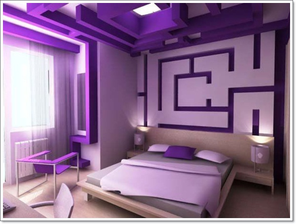 Purple Hotel Room