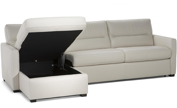 Vacation Rental Sleeper Sofa Chaise Sectional with Storage
