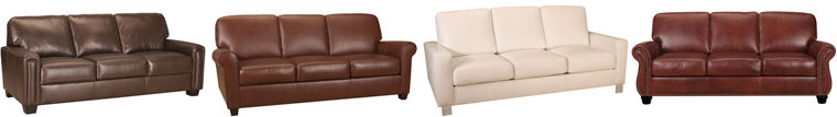 A Selection of Leather Living Sleeper Sofas