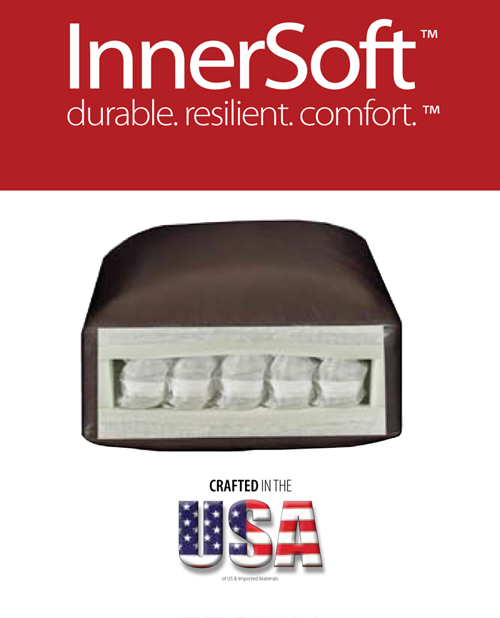 InnerSoft Pocket-Coil Seat Cushion