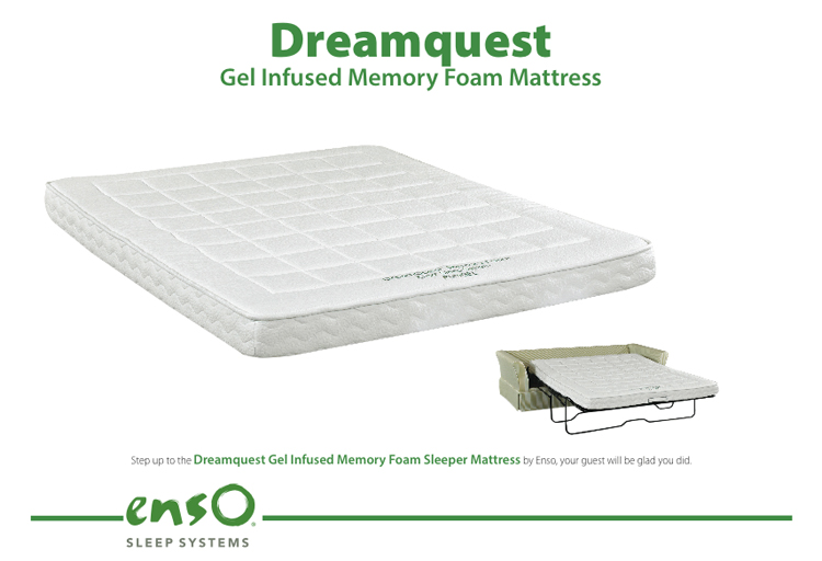 Gel-Infused Memory Foam Sleeper Mattress by Enso