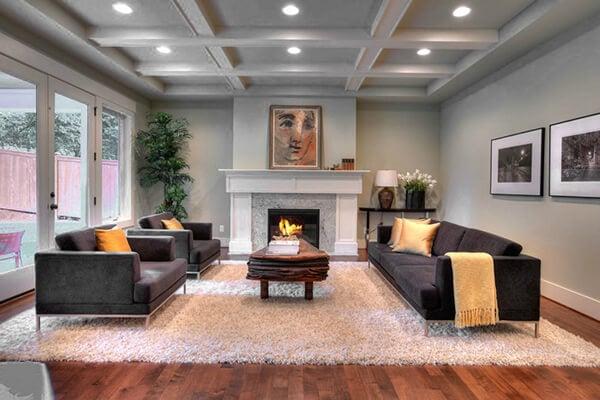 Rosichelli Design Living Room Home Staging